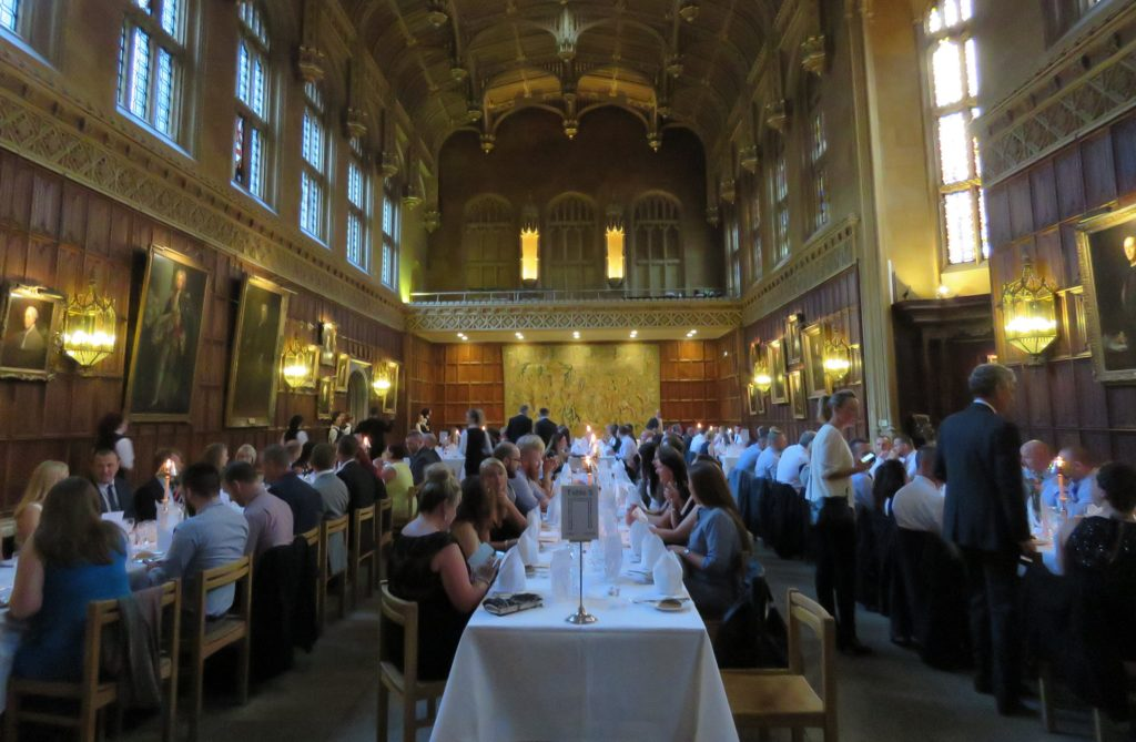Dinner in the magnificent King's College Hall