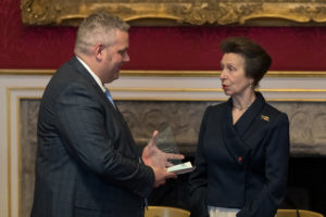 HRH prize presentation to David Savage